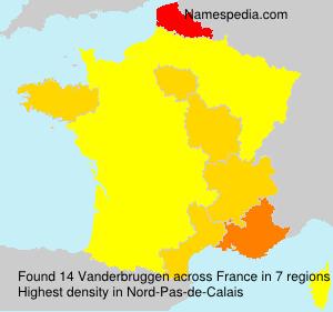 Surname Vanderbruggen in France