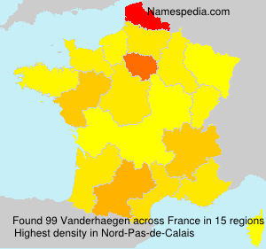 Surname Vanderhaegen in France