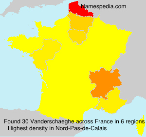 Surname Vanderschaeghe in France