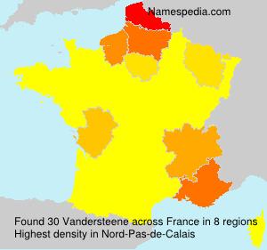 Surname Vandersteene in France