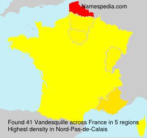 Surname Vandesquille in France