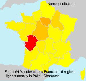 Familiennamen Vandier - France