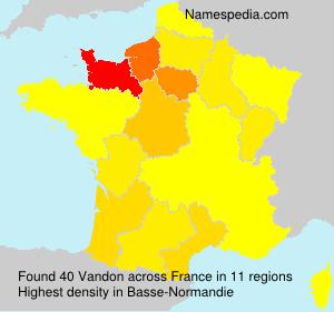 Surname Vandon in France