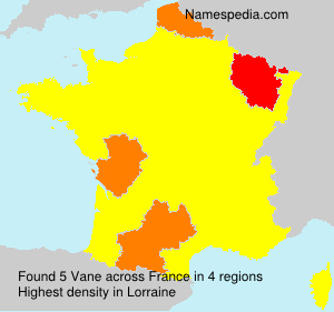 Surname Vane in France