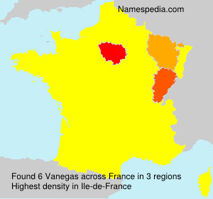 Surname Vanegas in France
