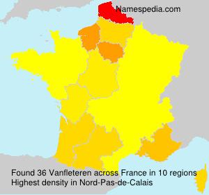 Surname Vanfleteren in France