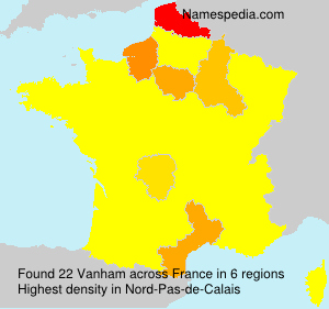 Surname Vanham in France