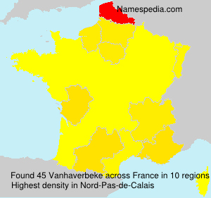 Familiennamen Vanhaverbeke - France