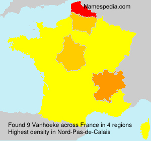 Surname Vanhoeke in France