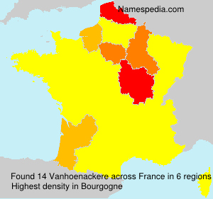 Surname Vanhoenackere in France