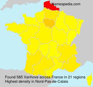 Familiennamen Vanhove - France