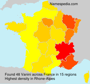 Familiennamen Vanini - France