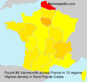 Surname Vanneuville in France
