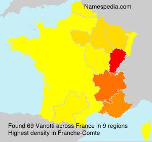 Surname Vanotti in France