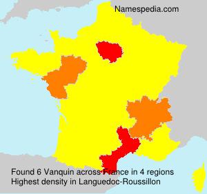 Surname Vanquin in France