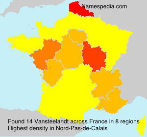 Surname Vansteelandt in France