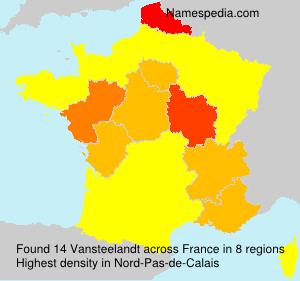Surname Vansteelandt in France
