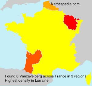 Surname Vanzavelberg in France