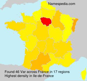 Surname Var in France