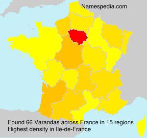 Surname Varandas in France
