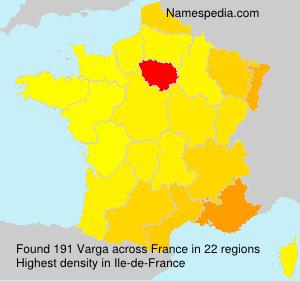 Surname Varga in France