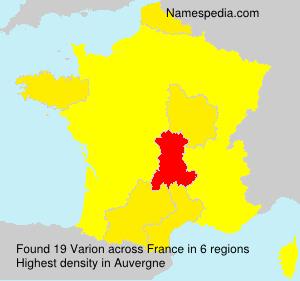 Surname Varion in France