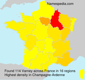 Surname Varney in France