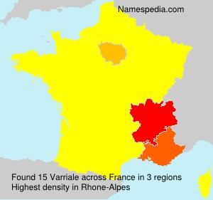 Surname Varriale in France