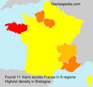 Surname Varro in France