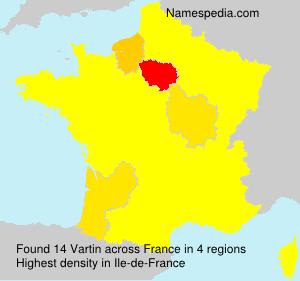 Surname Vartin in France