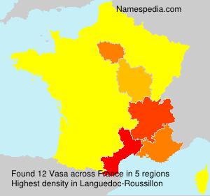 Surname Vasa in France