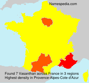Surname Vasanthan in France