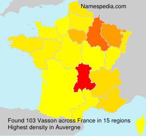 Familiennamen Vasson - France