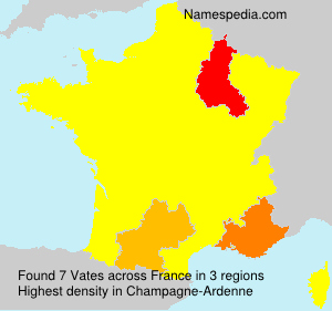 Surname Vates in France