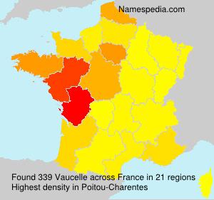 Surname Vaucelle in France