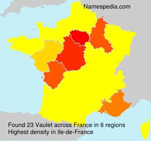 Familiennamen Vaulet - France