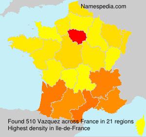 Familiennamen Vazquez - France