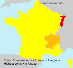 Surname Vecere in France