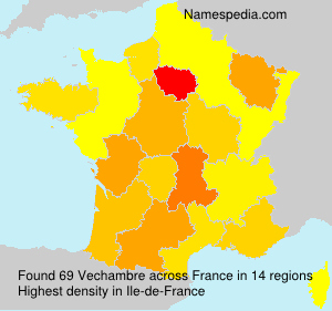 Surname Vechambre in France