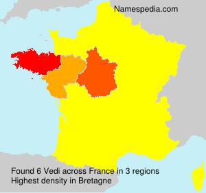 Familiennamen Vedi - France