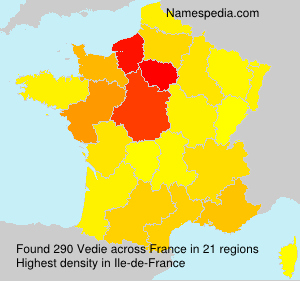 Surname Vedie in France