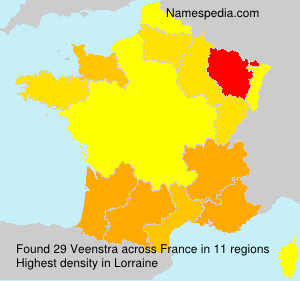Surname Veenstra in France