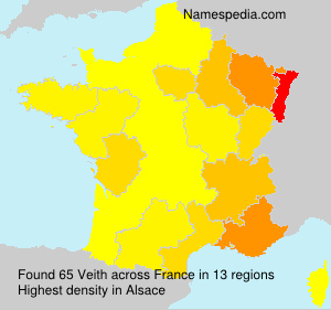 Surname Veith in France
