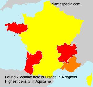 Surname Velaine in France