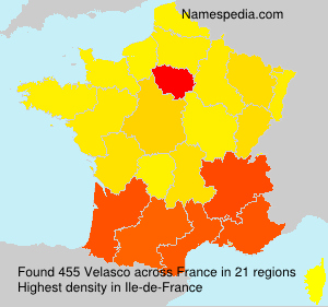 Surname Velasco in France