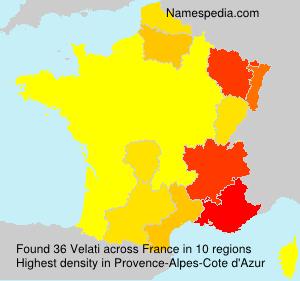 Surname Velati in France