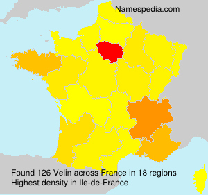 Surname Velin in France