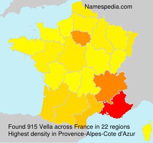 Surname Vella in France
