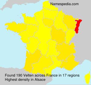 Familiennamen Velten - France