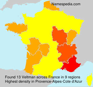 Surname Veltman in France